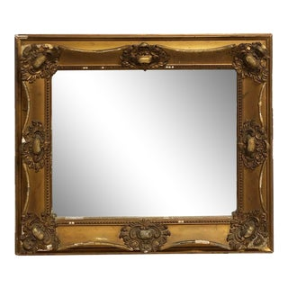 Antique Ornate Gold Mirror For Sale