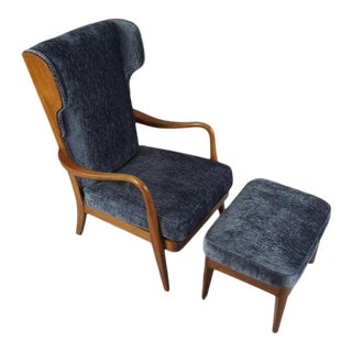 1940s Lounge Chair & Ottoman by Anker Petersen For Sale