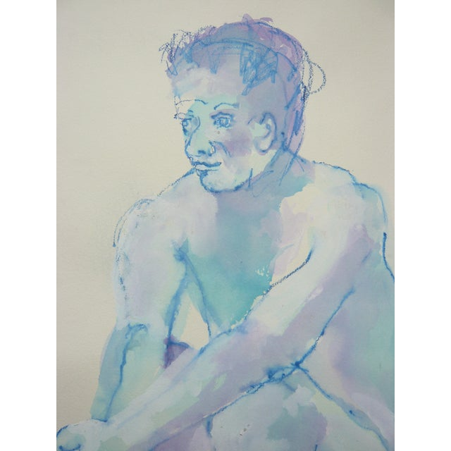 """Blue Boy"" Pastel and Watercolor - Image 3 of 3"