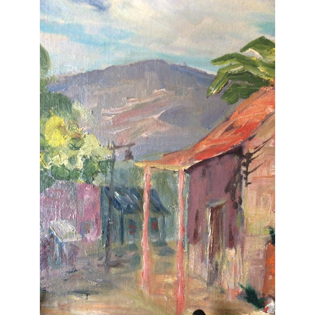 Original Signed 1920s Mexican Village Landscape - Image 7 of 10