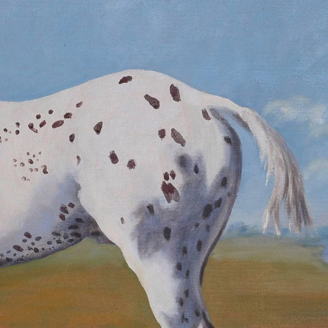 Oil Painting of a Horse on Board For Sale - Image 4 of 6