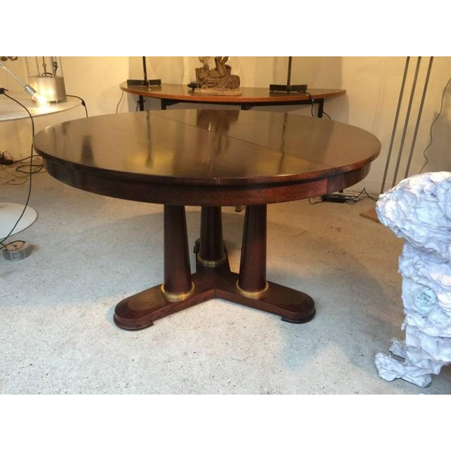 Jean Royère Genuine Tripod Round Dinning Table With Tri-Pedestal Base For Sale - Image 6 of 6