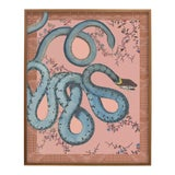 """Image of """"Les Serpentes"""" Snakes, Flowers, and Textile Pattern Print For Sale"""