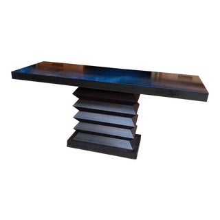 1990s Modern Parsons Console Table For Sale