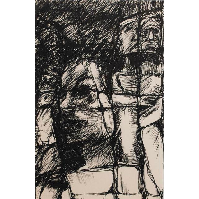 1960s Expressionist Drawing For Sale - Image 4 of 4