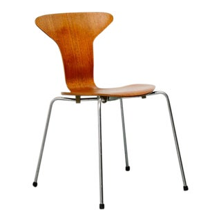 'Mosquito' Teak Bentwood Chair by Arne Jacobsen For Sale