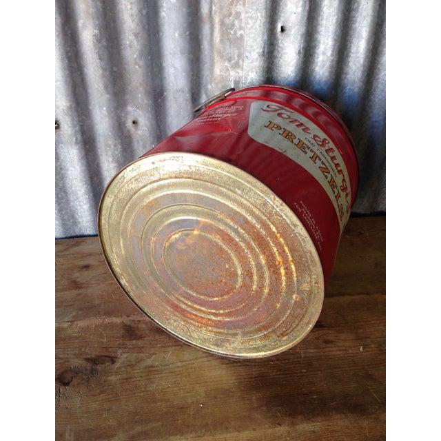 Vintage Large Tom Sturgis Pretzel Container - Image 6 of 8