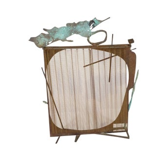 1990s Michael Todd Sculptural Fireplace Screen For Sale