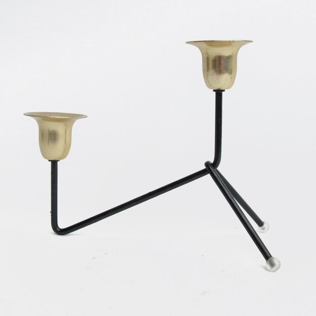 Mid-Century Modern 1970s Modernist Standing Candlestick, Belgium For Sale - Image 3 of 9
