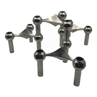 Stackable Steel Candleholders by Nagel & Stoffi - Set of Four For Sale
