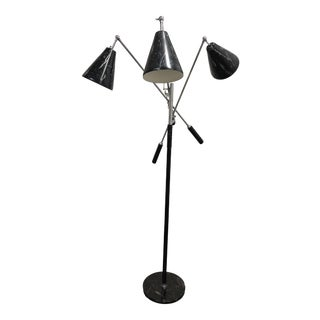 Mid-20th Century Angelo Lelli Style Design Triennale Three-Arm Articulating Floor Lamp For Sale