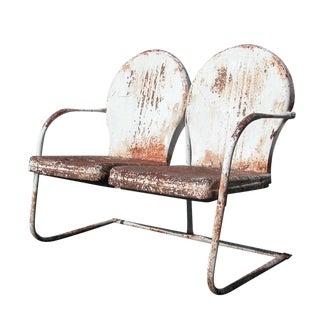 Vintage Metal Outdoor Settee 14957 For Sale