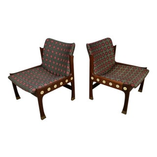 Kofod-Larsen Megiddo Slipper Chairs in Wenge - a Pair For Sale