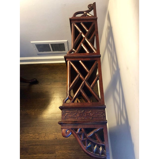 Thomas Chippendale 20th Century Chippendale Mahogany Shelf For Sale - Image 4 of 5