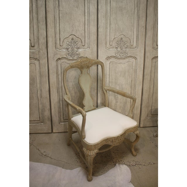 Swede Collection Swedish Rococo Dining Armchair For Sale - Image 4 of 7