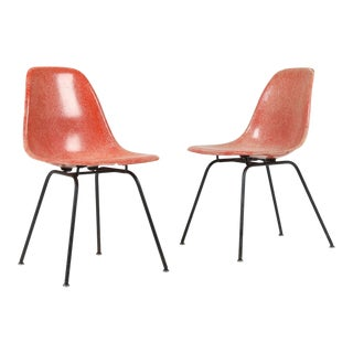 1950s Vintag Herman Miller Eames Dsx Chairs - Pair For Sale