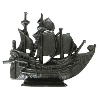Vintage Iron Ship Door Stop For Sale
