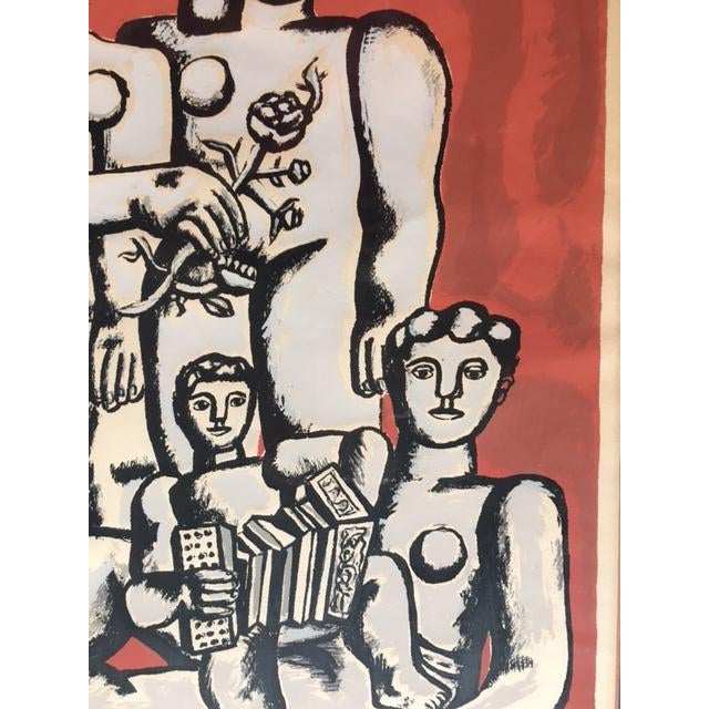 Paper 'The Three Sisters on Red' Seriograph For Sale - Image 7 of 8