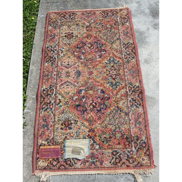 Mid 20th Century Vintage Mid-Century Karastan Kirman Wool Area Rug - 2′2″ × 4′ For Sale - Image 5 of 8