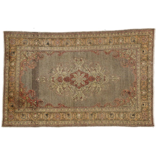 "Antique Turkish Sivas Rug - 4'1"" X 6'4"" For Sale"