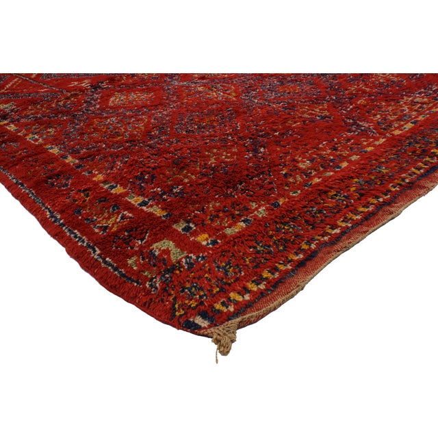 Vintage Berber Red Moroccan Rug 6' x 10'7 - Image 2 of 3