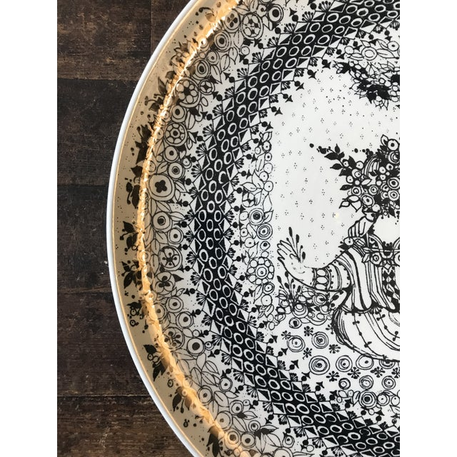 1970s Bjorn Winbald Porcelain Decorative Plate For Sale In New York - Image 6 of 7