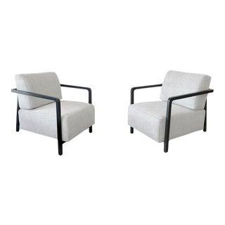 Custom Designer Armchairs - A Pair For Sale