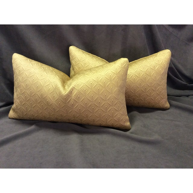 Custom Made Gold Pillows - Pair - Image 2 of 6