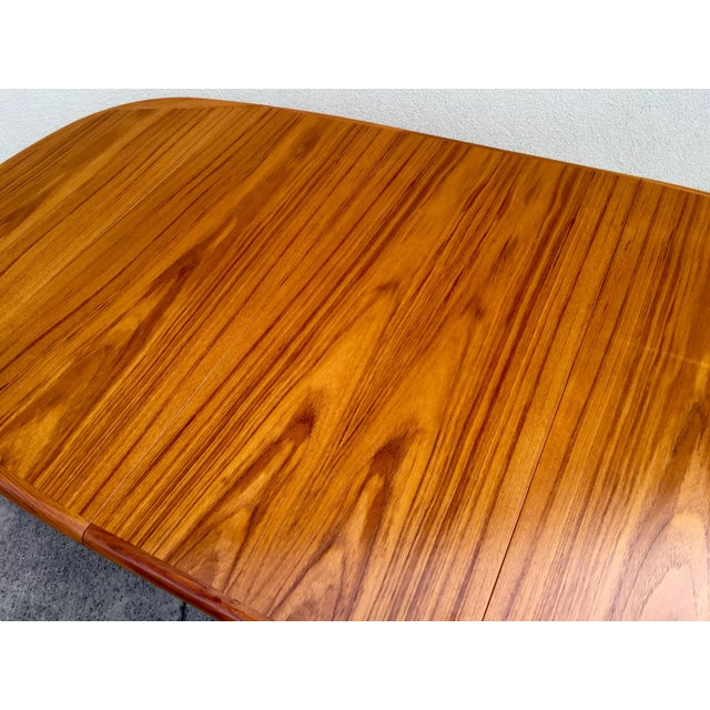 Mid-Century Expandable Teak Dining Table - Image 5 of 11