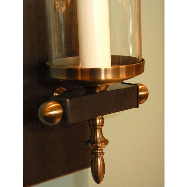 2010s Paul Marra Design Traditional Hurricane Sconces - a Pair For Sale - Image 5 of 7