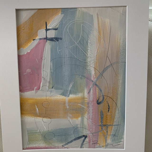 Great combination of pastel colors. Original abstract art and an affordable rate! Atlanta artist, Beth Berrs