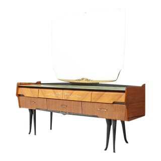 Italian Dressing Sideboard Vanity With Mirror and Horse Legs, 1959 For Sale