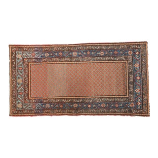 "Vintage Hamadan Rug Runner - 3'7"" x 6'10"" For Sale"