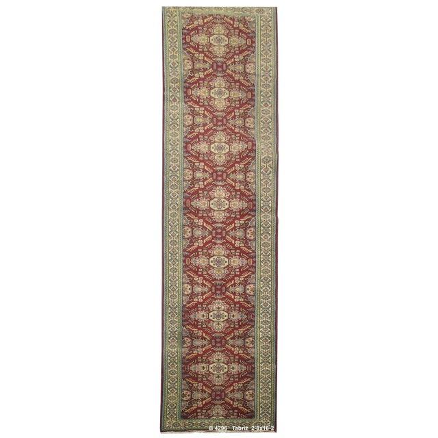 Vintage Persian Tabriz Rug - 2'8''x16'2'' For Sale
