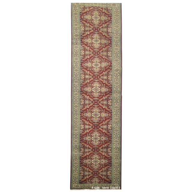 Vintage Persian Tabriz Rug - 2'8''x16'2'' - Image 1 of 2