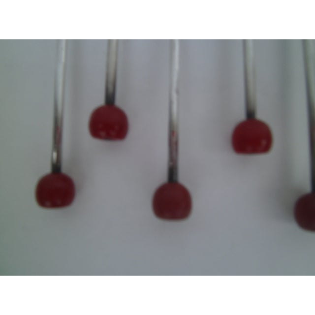 Bakelite Deco Von Lengerke & Antoine Applesauce Spoons For Sale - Image 4 of 10