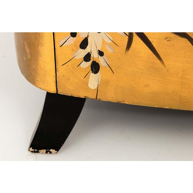 Pair of Gold Lacquered Chinese Chests For Sale - Image 4 of 13