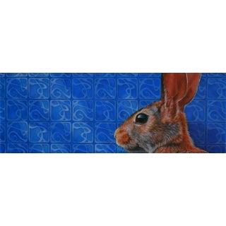 Contemporary Animal Portrait Oil Painting by Deborah DeSaix For Sale