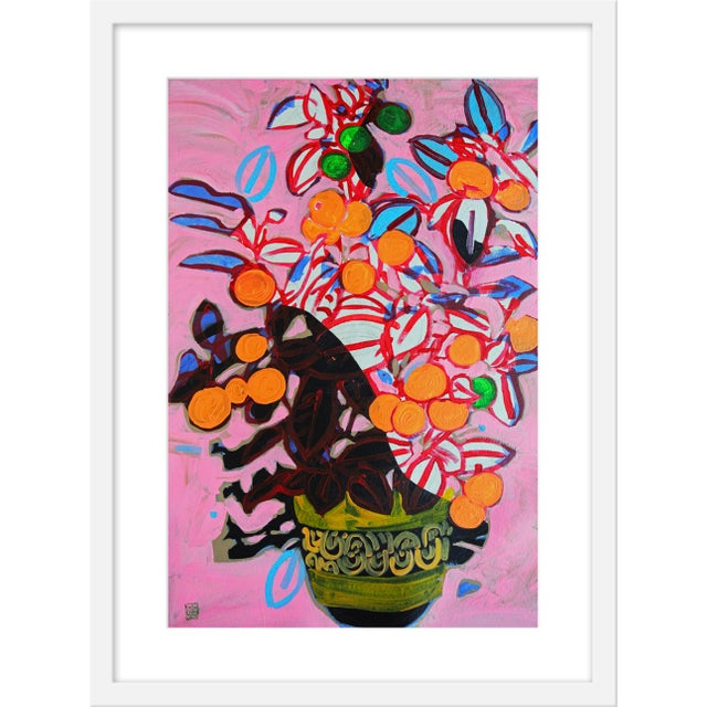 """Orange Tree Print by Jelly Chen, 19"""" X 25"""" For Sale"""