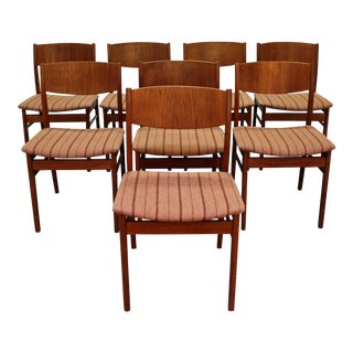 Mid-Century Danish Modern Teak Dining Chairs - Set of 8