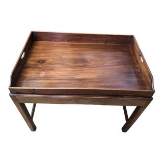 19th Century George III Mahogany Butlers Tray Table For Sale