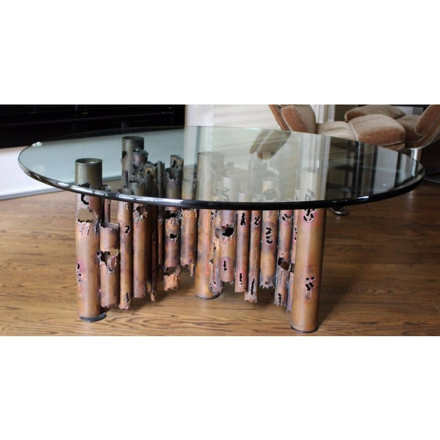1950s Mid-Century Modern Brutalist Masciarelli for Regent Glass Coffee Table For Sale - Image 10 of 10