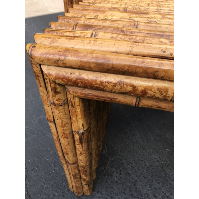 Vintage Bamboo End Tables - A Pair For Sale - Image 4 of 8