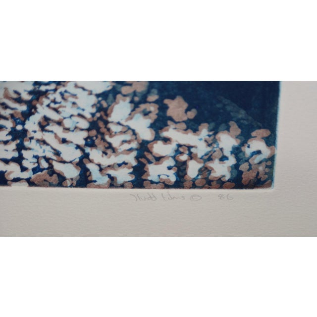 """Paper Vintage Koi Pond """"Second June"""" Etching W/ Aquatint by Thadd Evans C.1986 For Sale - Image 7 of 11"""