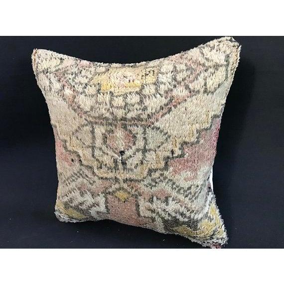 Textile Turkish Anatolian Oushak Wool Pillow Case For Sale - Image 7 of 9