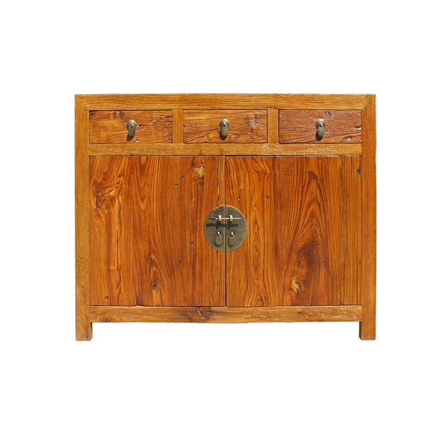 Chinese Distressed Drift Brown Sideboard Console Table Cabinet For Sale In San Francisco - Image 6 of 7