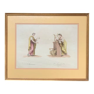 19th Century Classical Watercolor Painting For Sale
