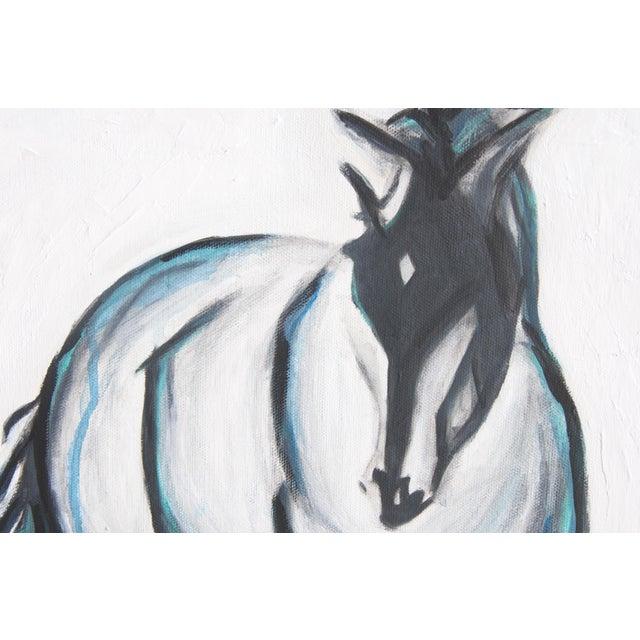 """Pete"" Horse Original Mixed Media Painting - Image 2 of 4"