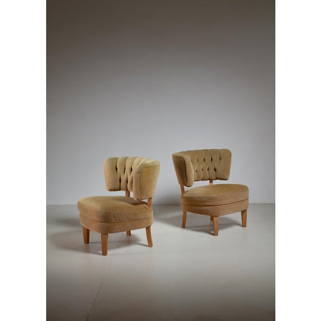 Otto Schulz Pair of Lounge Chairs by Jio Möbler, Sweden, 1940s - Image 2 of 4