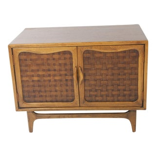 Lane Acclaim Basket Weave TV Stand Record Cabinet